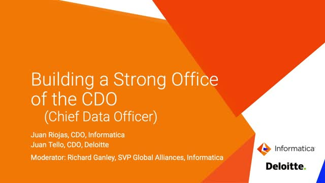Building a Strong Office of the Chief Data Officer (CDO)