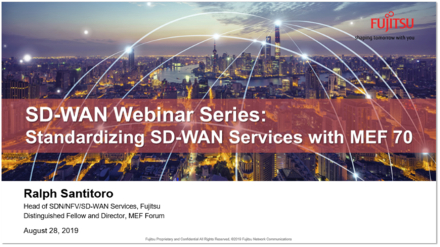 Standardizing SD-WAN Services with MEF 70