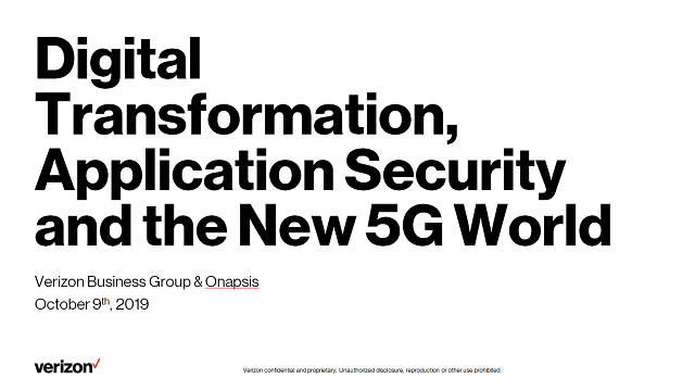 Digital Transformation, Application Security and the New 5G World
