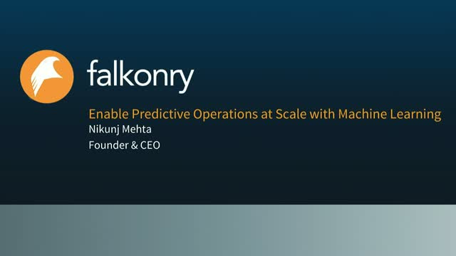 Enable Predictive Operations at scale with Machine Learning