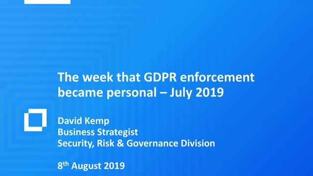 The Week that Data Privacy Became Personal!