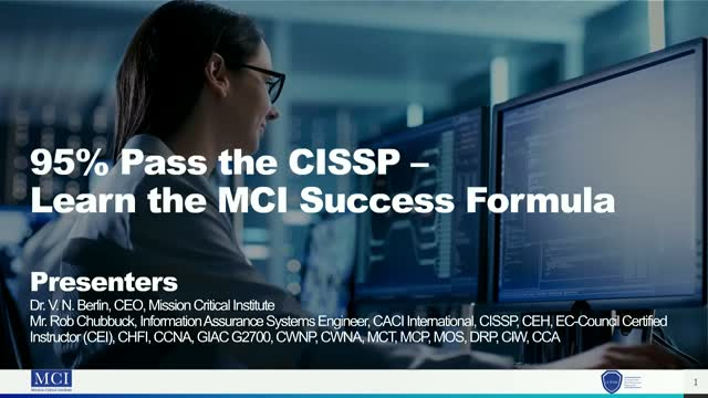 95% Pass the CISSP - Learn the MCI Success Formula