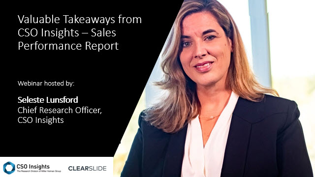 Valuable Takeaways from CSO Insights - Sales Performance Report