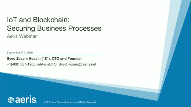 IoT and Blockchain: Securing Business Processes