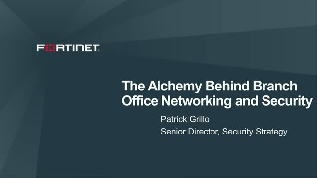 The Alchemy Behind Branch Office Security and Networking