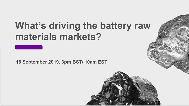 What's driving the battery raw materials markets?