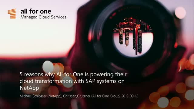 5 reasons why All for One is powering their cloud transformation with SAP system