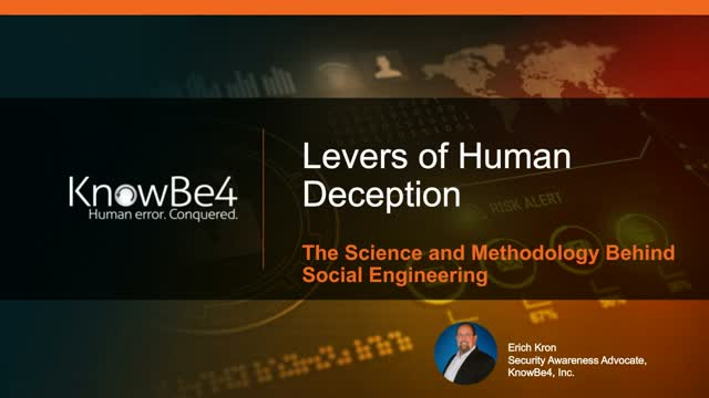 Levers of Human Deception || The Science and Methodology Behind Social Engineeri