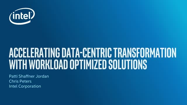 Accelerating Data-Centric Transformation with Workload Optimized Solutions