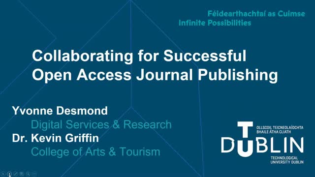 Collaborating for Successful Open Access Publishing
