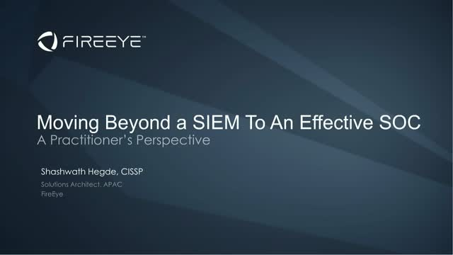 Moving Beyond SIEM