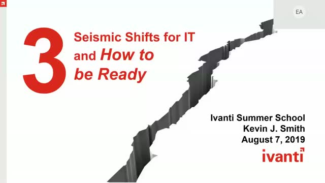 The 3 Seismic Shifts in IT and how to be Ready when they Come