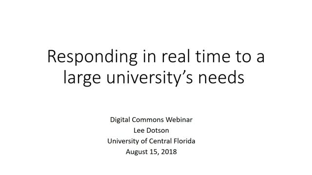 Responding in real time to a large university's needs