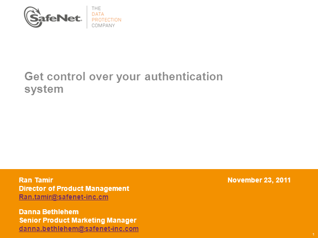EMEA: Get control over your authentication system