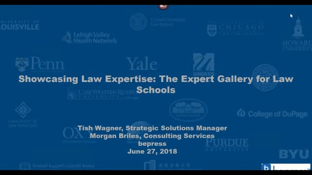 Showcasing Law Expertise: The Expert Gallery Suite for Law Schools