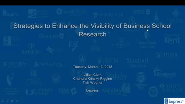 Strategies to Enhance the Visibility of Business School Research