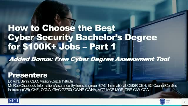 How to Choose the Best Cyber Security Bachelor's Degree for $100K+ Jobs – Part 1