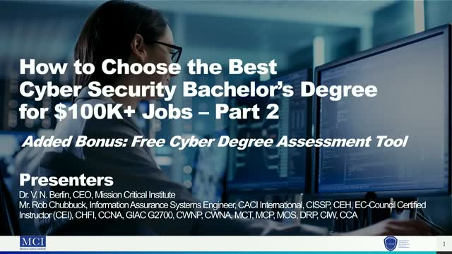How to Choose the Best Cyber Security Bachelor's Degree for $100K+ Jobs – Part 2