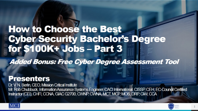 How to Choose the Best Cyber Security Bachelor's Degree for $100K+ Jobs – Part 3
