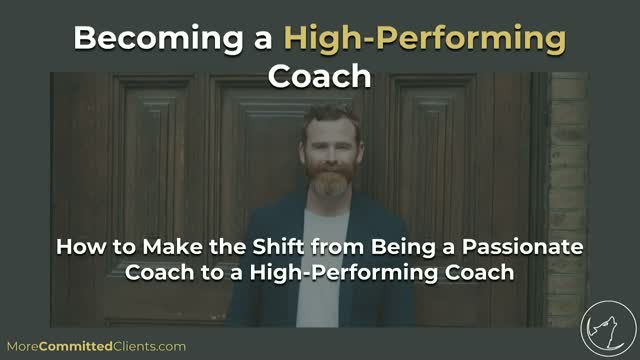 Becoming a High-Performing Coach