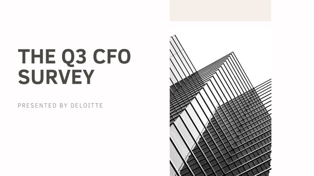 Deloitte's CFO Survey