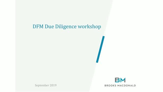 DFM due diligence workshop