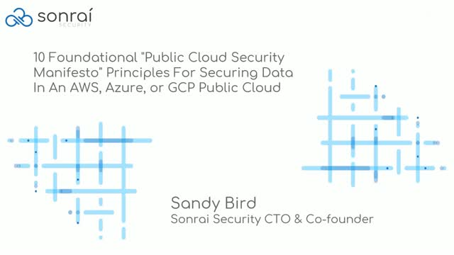"10 Foundational ""Public Cloud Security Manifesto"" Principles for Securing Data"
