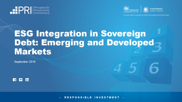 ESG Integration in Sovereign Debt: Emerging and Developed Markets #2