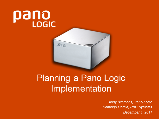 Planning a Pano Logic Implementation