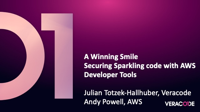 A Winning Smile - Securing Sparkling Code With AWS Developer Tools