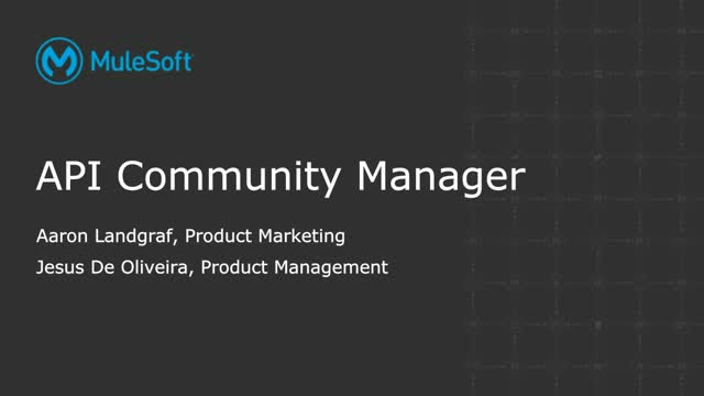 Intro to API Community Manager