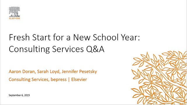 Fresh Start for a New School Year: Consulting Services Q&A