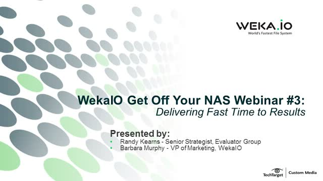 Get Off Your NAS Webinar #3 - Data Transformation for AI/ML Workloads