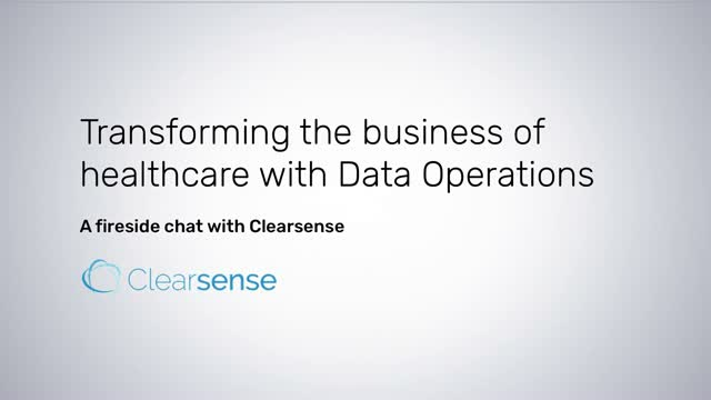 Transforming the Business of Healthcare with Data Operations