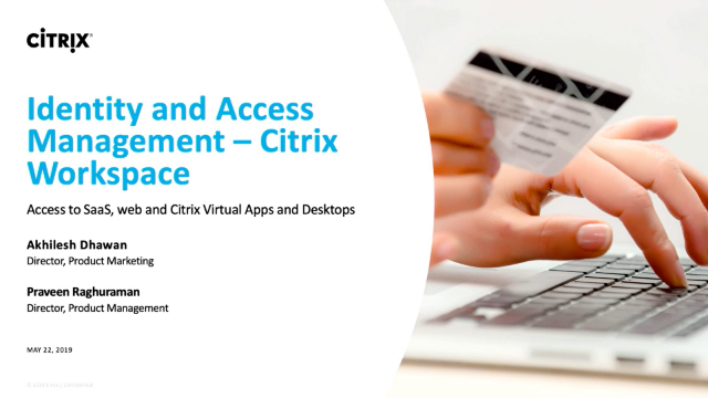Identity and access management with Citrix Workspace