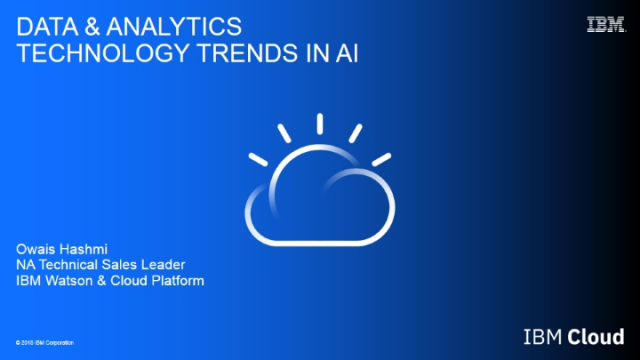 Data & Analytics Technology Trends in AI