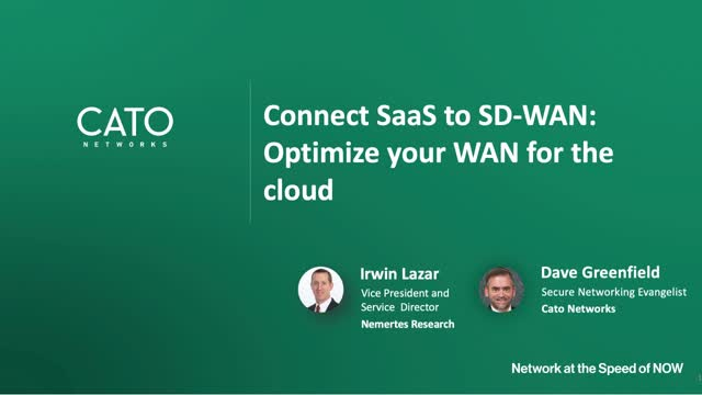 Connect SaaS to SD-WAN: Optimize your WAN for the Cloud