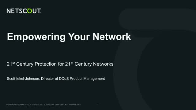 Empowering Your Network to Stop DDoS Attacks