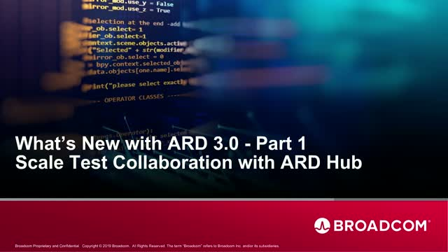 What's New with ARD3.0 - Part 1