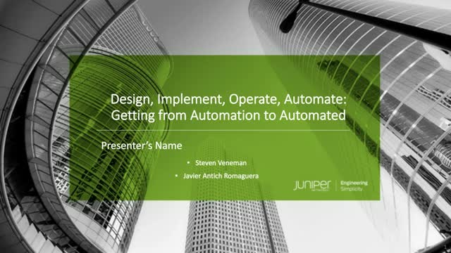 Design, Implement, Operate, Automate: Getting from Automation to Automated