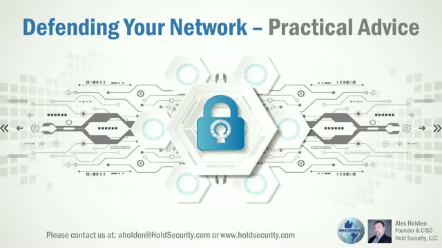 Defending Your Network – Practical Advice