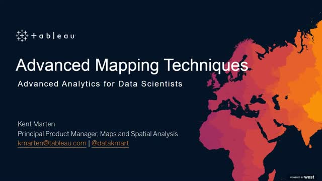 Advanced Mapping Techniques with Tableau