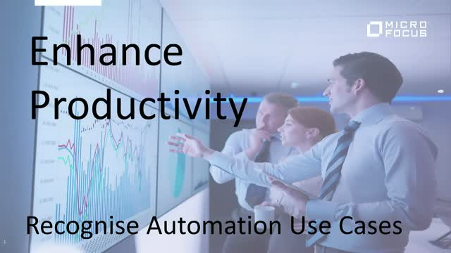 Enhance productivity: Recognise Automation Use Cases