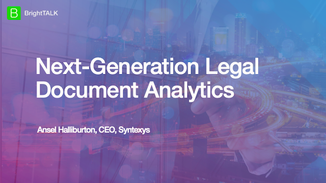 Next-Generation Legal Document Analytics