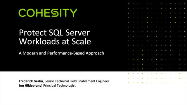 Protect SQL Server Workloads at Scale: A Modern and Performance-Based Approach