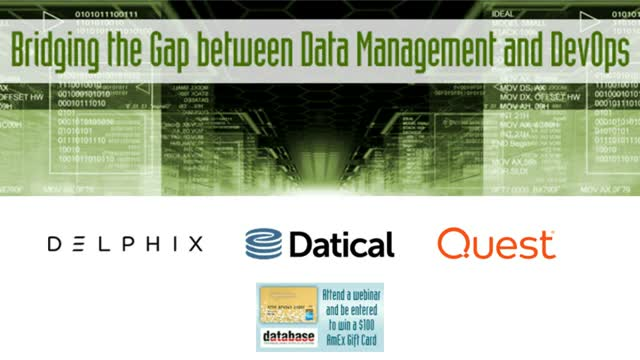 Bridging the Gap between Data Management and DevOps