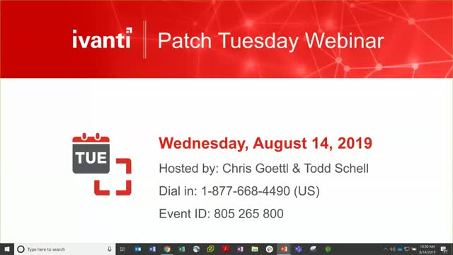 August 2019 Patch Tuesday Analysis