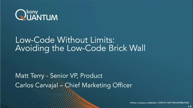 Low-Code Without Limits- - Avoiding the Low-Code Brick Wall