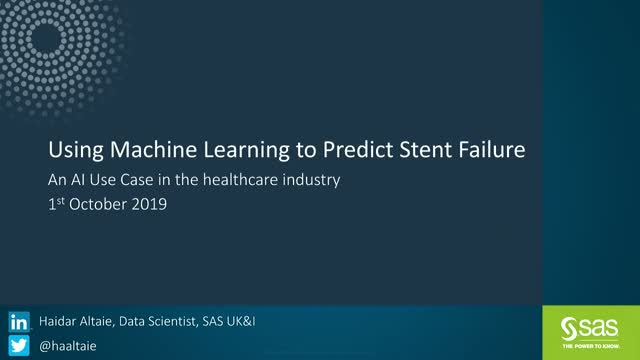 Using Machine Learning to predict Stent Failure