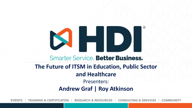The Future of ITSM in Education, Public Sector and Healthcare